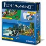 Clementoni-39278 Mania Kit : 2 Puzzles + 1 Tapis de Puzzle 1500 Pièces