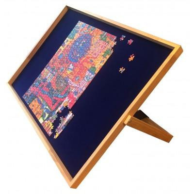 Jig-and-Puz-80016 Luxe Puzzle Table - 100 à 1000 Pièces + 3 Plateaux de Tri